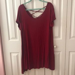 Red T-Shirt Style dress